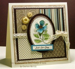 Patchwork Beautiful Blossoms Card