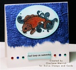 Glittered Koi Card