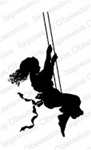 GIRL SWING SILHOUETTE FOAM MOUNTED CLING BY IO E13307