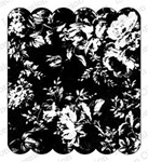 F8867 ROSE PRINT BACKGROUND, FOAM MOUNTED CLING BY IO