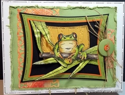 Sunset Frog Card