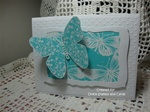 Large Floral Butterfly Card