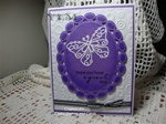 Butterfly Peel Off Card