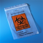 "Bag, Biohazard Specimen Transport, 6"" x 9"", Ziplock with Document Pouch, 100/Pack, 10 Packs/Unit"