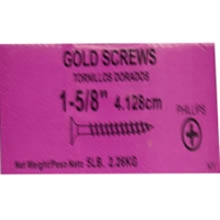 "158GS5 6 X 1-5/8"" GOLD SCREW 5# PUR"