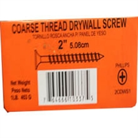 "2CDWS1 6X2"" COARSE DW SCREW 1#"