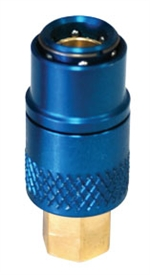 Manual Snap-On Coupler - Low Side, Blue