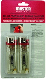 RC-31 Refillable Butane Fuel Cell, 2-pk