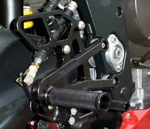 05-0500B - WoodCraft,  Tri 675/Street Triple 06-12 Std Shift  - Rearset kit