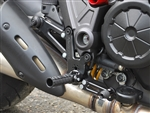 05-0670B - Ducati 1198 Diavel  Standard Shift Adjustable Rearset Kit