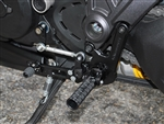 05-0671B - Ducati 1198 Diavel GP Shift Adjustable Rearset Kit