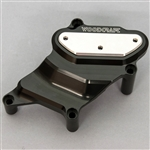 60-0407WPC - Woodcraft, Yamaha FZ07 '15-17, RHS Water Pump Protector Cover - Black Anodized - Engine Covers