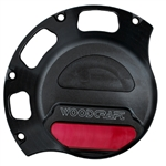 60-0641RB - WoodCraft,  Ducati RH Cl. Cover Protector, Blk Engine Covers