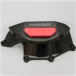 60-0740RB - WoodCraft,  Aprilia RSV4 Clutch Cover Prot., Blk Engine Covers