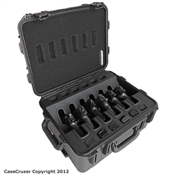 universal quick draw handgun case with Wheels - 6 pack