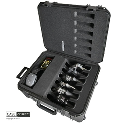 shooting range handgun case magnum 6 pack
