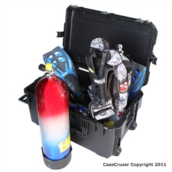 Large Scuba Dual Tank Storage Carrying Case - Tank Holder