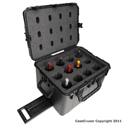 12 Bottle Wine Carrier with Wheels - WineCruzer