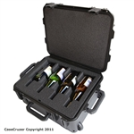 4 Bottle Wine Carrier with Wheels - WineCruzer