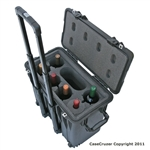 6 Bottle Wine Carrier with Wheels - WineCruzer