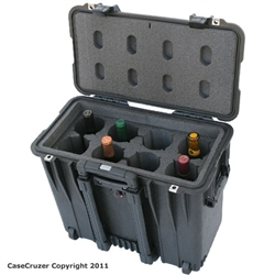 8 Bottle Wine Carrier with Wheels - WineCruzer
