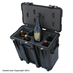 Decanter plus 5 Bottle Wine Carrier with Wheels - WineCruzer