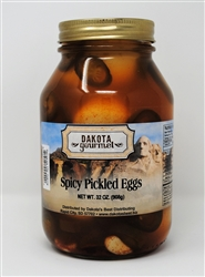 Spicy Pickled Eggs 32oz | South Dakota