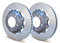 Front two-piece racing rotors for Porsche 991.1