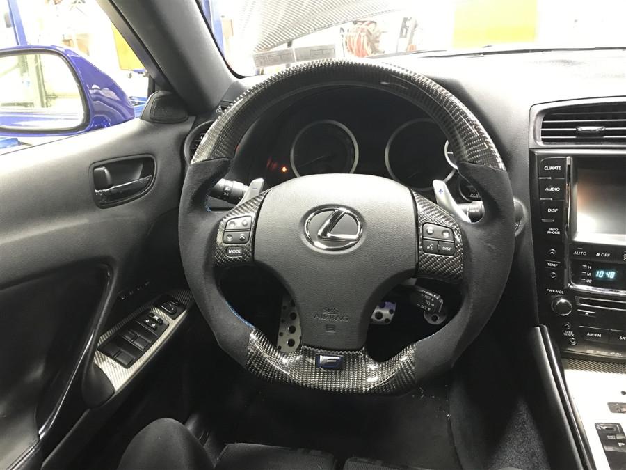 Custom Carbon Fiber Steering Wheel for Lexus ISX