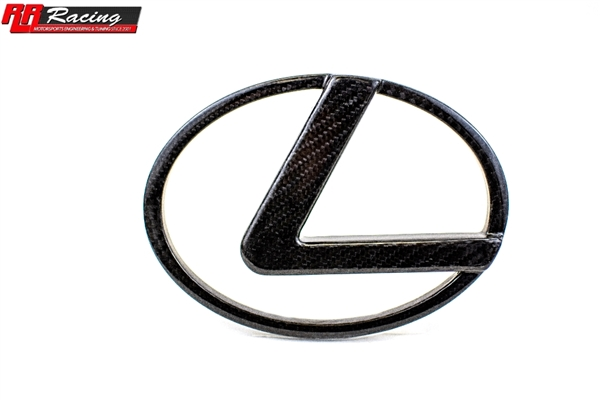 RR Racing Lexus IS Front Carbon Vented L Badge