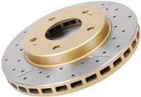 Front DBA 4000 Series rotors for BRZ/FRS, drilled and slotted (pair)
