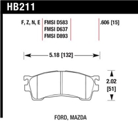 Hawk HP-Plus Front Street/Track Compound Brake Pads