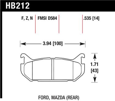 Hawk HPS Rear High Performance Street Brake Pads