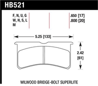 Hawk HP-Plus replacement pads for Wilwood Superlite 6R and 4R calipers