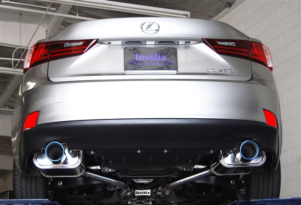 Invidia Q300 Axle-Back Exhaust System with Rolled Stainless Steel Tip for Lexus IS250/350
