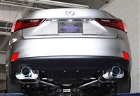 Invidia Q300 Axle-Back Exhaust System with Rolled Titanium Burnt Tip for Lexus IS250/350