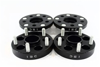 ISC Suspension 5x100 Hub Centric Wheel Spacers 15mm Black