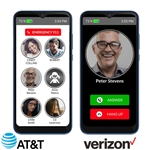Easy to use picture dial Verizon and AT&T compatible cell phone for elderly, seniors and those with Alzheimer's plus GPS Tracking and speakerphone