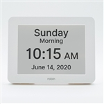 robin reminder day clock with alarm reminders for Alzheimer's and dementia