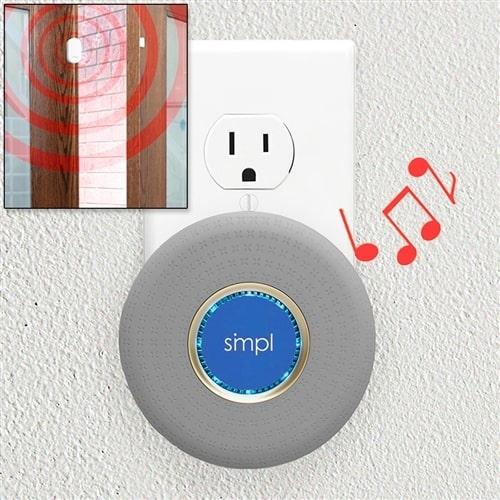 Door Alarm: Monitor with Remote Plug-In Alarm - Set
