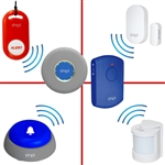 door alarm monitor with remote portable alarm kit for wandering Alzheimer's dementia elderly SMPL motion sensor option expandable add on medical alert help pendant