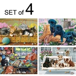 easy and simple puzzles for adults with dementia or Alzheimer's cats kittens dogs feline