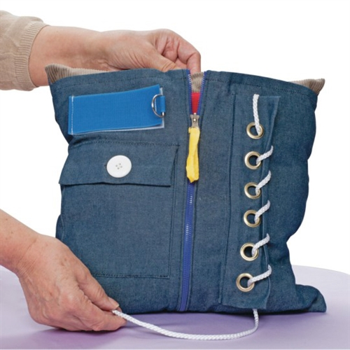 activity lap pillow fiddle twiddle lap gadgets buckles for Alzheimer's and dementia