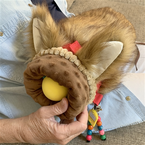 furry fiddle twiddle hand muffs for alzheimers and dementia pet therapy