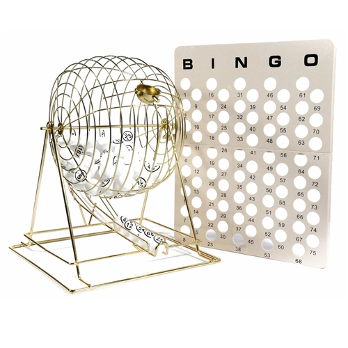 extra large bingo cage with balls for seniors