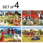 easy and simple puzzles for adults with dementia or Alzheimer's farms horses ducks chickens pigs cows