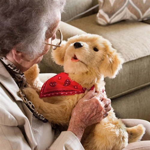 alzheimer's pet therapy robotic dog cat