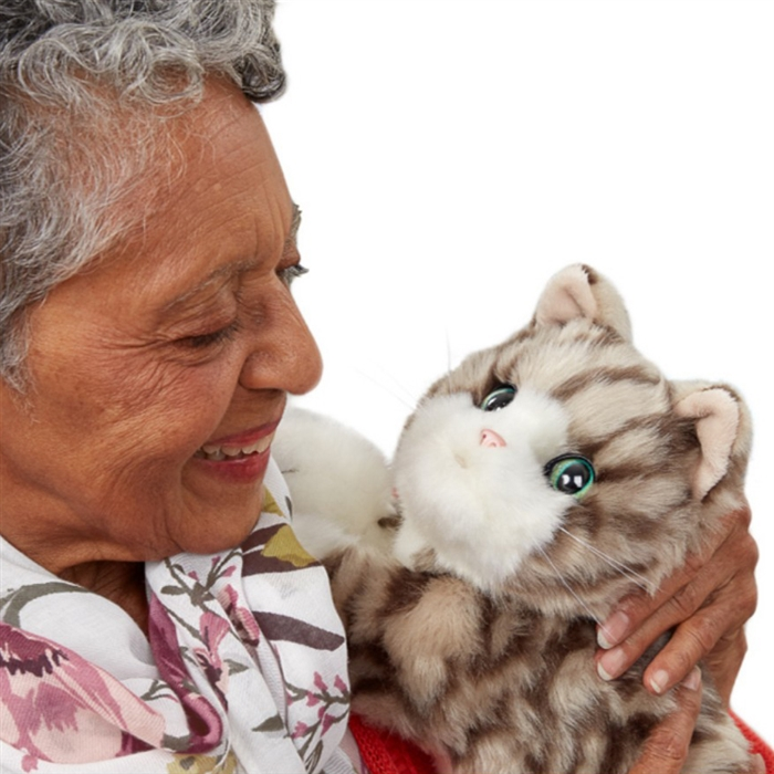 Companion Therapy Pet Kitten   Purrs and Nuzzles   Pet Therapy for Dementia  & Alzheimer's   Help prevent loneliness with a comforting pet who purrs and  nuzzles   Makes a great gift