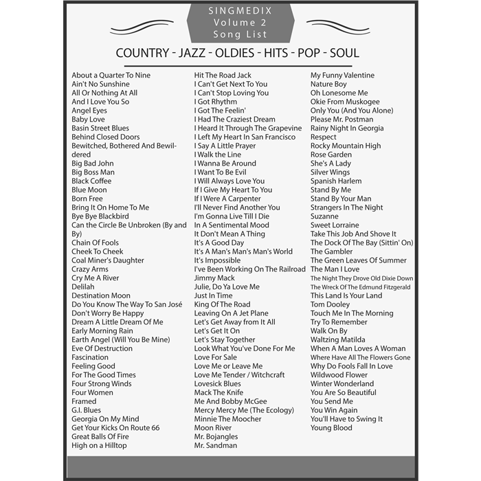 Country classic songs list