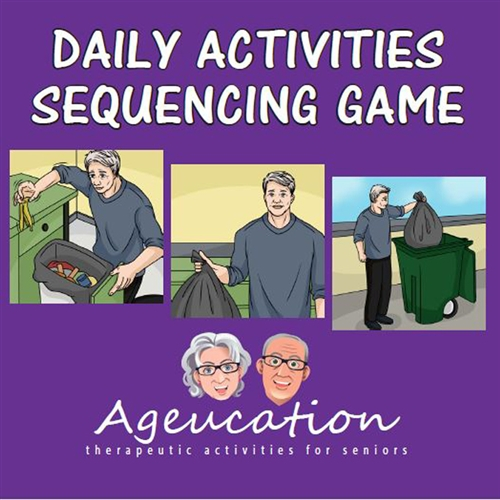 daily activities sequencing game